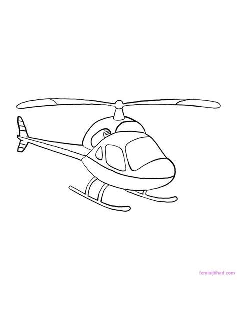 Koleksi Berbagai Gambar Sketsa Helikopter