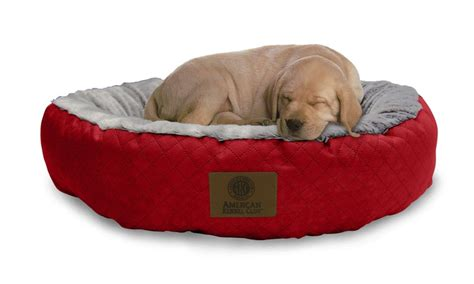large round dog bed akc diamond quilted large round pet bed groupon