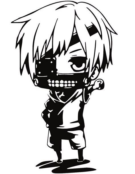 Stiker Sticker Anime Tokyo Ghoul Kaneki tokyo ghoul kaneki chibi anime decal kyokovinyl
