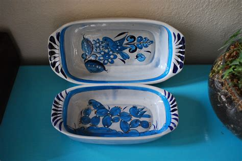 mexican dinnerware vintage mexican pottery serving dishes by vintagebitsandpieces