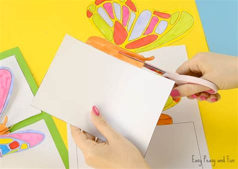 pop up card templates tfuny diy butterfly pop up card with a template easy peasy and