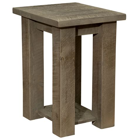 Nightstand With Shelf by Frontier Driftwood Open Nightstand With Shelf