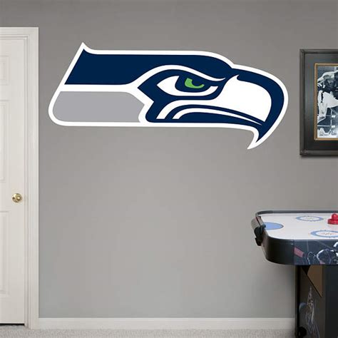 Seahawks Decor by Seattle Seahawks Logo Wall Decal Shop Fathead 174 For