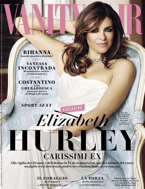 Vanity Fair Italia by Elizabeth Hurley Vanity Fair Magazine Italy April 2015