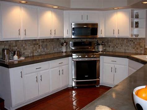 Paint Kitchen Units White Popular Painted Kitchen Oak Cabinets My Home Design Journey