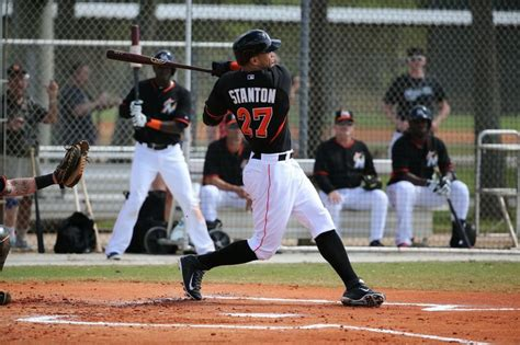 giancarlo stanton swing pin by miami marlins on marlins spring training 2014