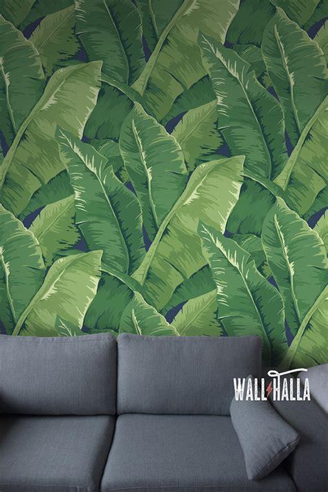 banana leaf wallpaper etsy seamless self adhesive banana tree leaf pattern wallpaper