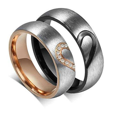Verlobungsringe Edelstahl by Daesar M 228 Nner Verlobungsringe Edelstahl Ring Herz Puzzle