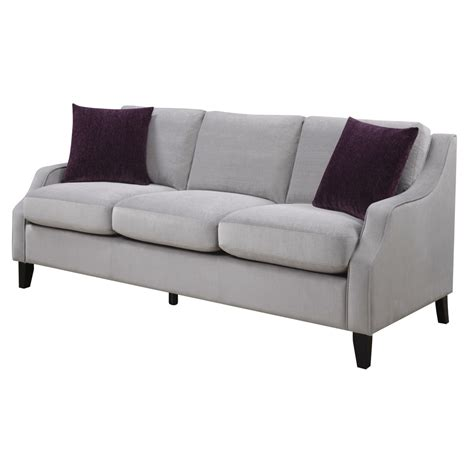 feather down sofa isabelle soft grey upholstered feather down sofa