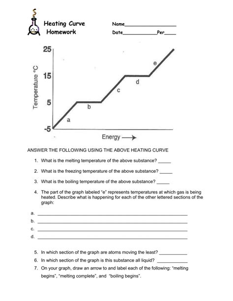 Heating Curve Worksheet Answer Key by Heating Curve Worksheet Answers Ommunist