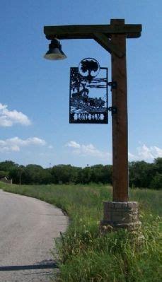lone park lights lone elm cground historical marker