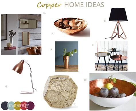 copper decor for home shop the trend copper home decor ideas family home