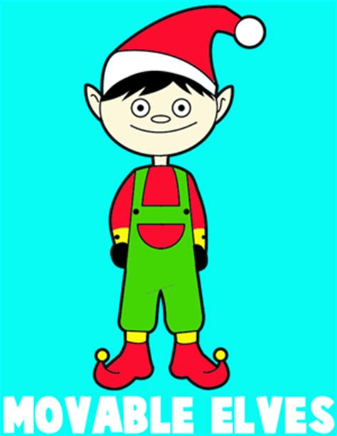 printable movable elf santas elf crafts for kids how to make your own