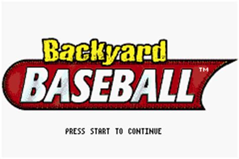 Backyard Baseball Gameboy Advance Backyard Baseball U Venom Rom
