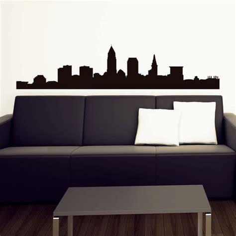 In Cleveland Wall Pin Cleveland Skyline Vinyl Wall Decal 11 Inches