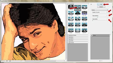 tutorial photoshop edit foto jadi kartun cara merubah foto menjadi kartun dengan photoshop tips okey