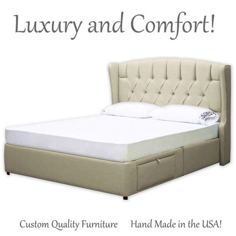 upholstered bed frame with storage bed frame queen bed frame king bed frame captain s