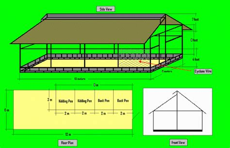 diagram  standard goat house design goat goat