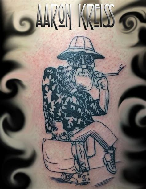 hunter s thompson tattoo s thompson ralph steadman fear loathin in las