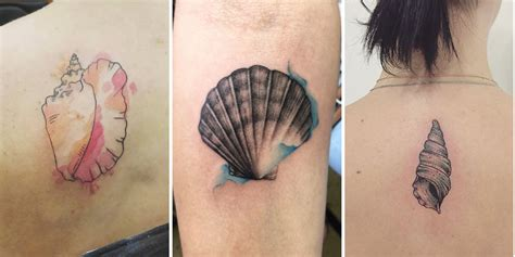 small shell tattoo 45 beautiful seashell tattoos you ll tattooblend