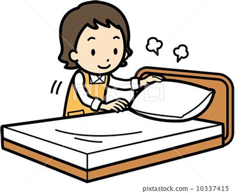 make bed clipart bed making vector vectors stock illustration 10337415