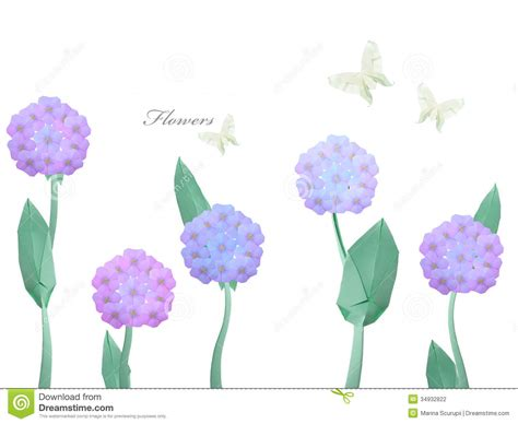 How To Make Paper Violets - paper origami violet flawers stock photography image