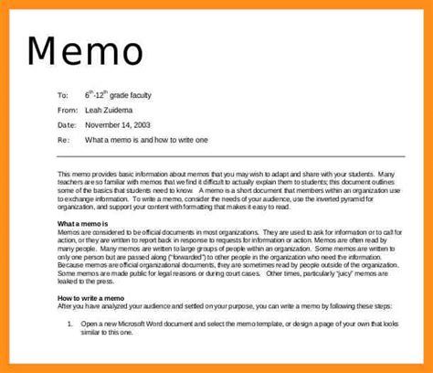5 writing a memo agenda exle