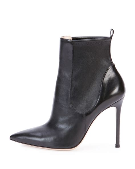 stretch out leather shoes gianvito stretch leather ankle boot in black lyst