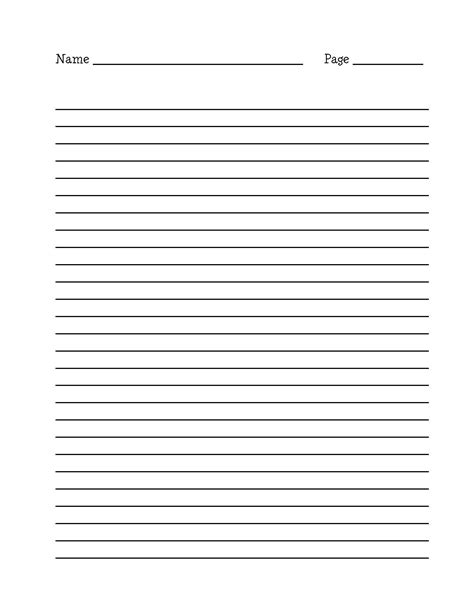 printable narrative writing paper 15 best images of long lined paper worksheets 4th grade