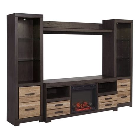 tv entertainment centers with fireplace harlinton entertainment center with led fireplace