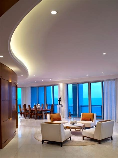 Curved Ceiling Design 25 Creative Led Ceiling Lights Are Built In Suspended