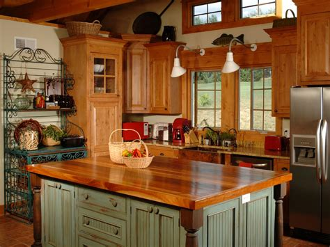 ideas for country kitchen country kitchen islands hgtv