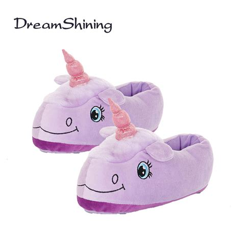 aliexpress unicorn dreamshining fashion women plush unicorn slippers cosplay