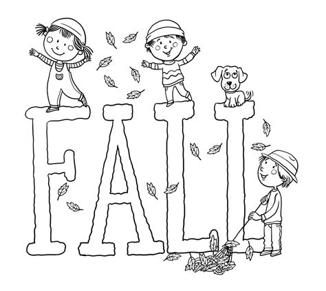 seasonal fall coloring sheets coloring pages