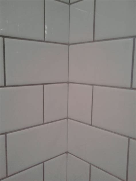 22 light grey subway white grout with decorative line white tile quot delorian grey quot grout kitchen pinterest