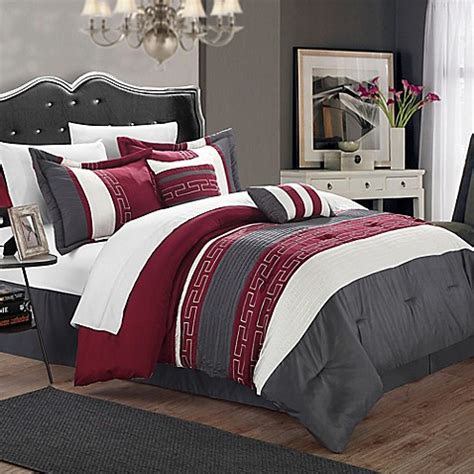buy chic home coralie 6 piece queen comforter set in