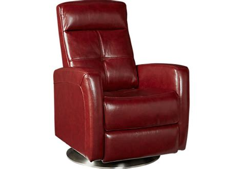 red leather recliner cindy crawford home palermo red leather power recliner