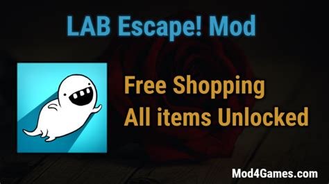 game mod free shopping lab escape mod free shopping all items unlocked