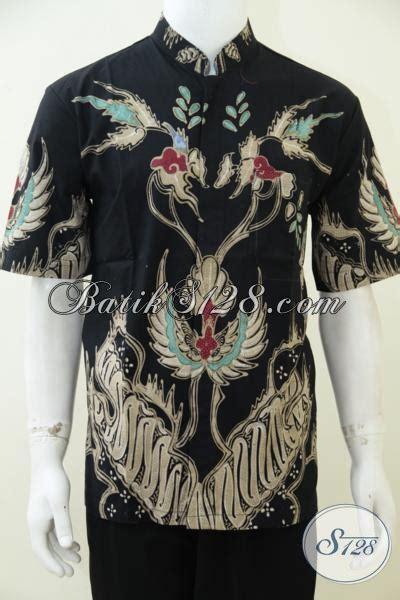 Koko Batik Elegan Mickot Hitam toko batik sedia baju batik motif keren dengan