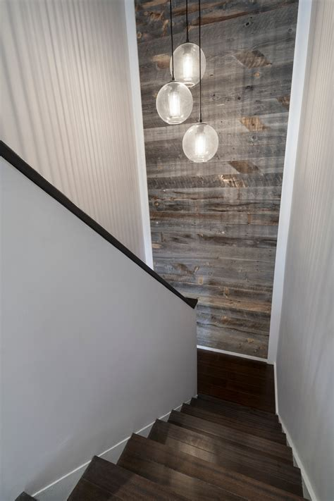 Accent Wall Staircase by Cool Sonneman Lighting In Staircase Modern With Reclaimed