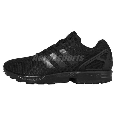 all black sneakers mens adidas originals zx flux all black out mens running shoes