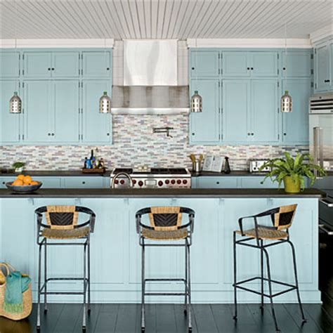 beach inspired home with blue and white kitchen home 25 beach inspired ideas for your home