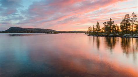 sunset  sea dalarna sweden windows  spotlight images