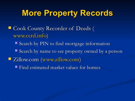 Cook County Recorder Of Deeds Property Search Detective 3 31 11