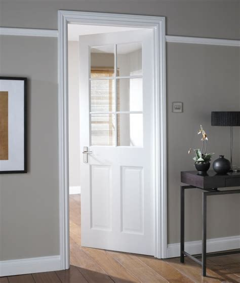 B Q Doors Interior B Q B Q Avesta 6 Lite Primed Clear Glazed Door Nat26ad6ptg White Customer Reviews