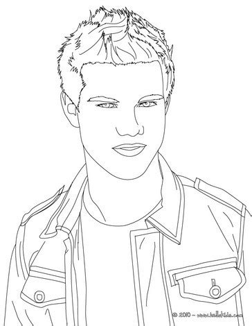 coloring pages name taylor taylor lautner close up coloring pages hellokids com