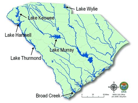map of lakes in carolina scdnr clean vessel act