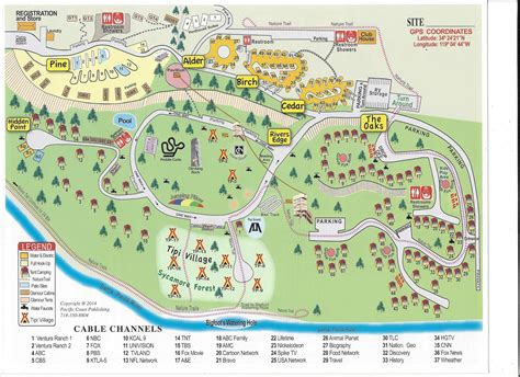 california koa map activities attractions and events for the ventura ranch