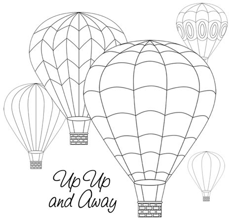 hot air balloon template print free az coloring pages