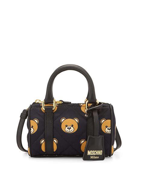 Bag With Teddy lyst moschino mini teddy shoulder bag in metallic